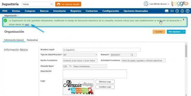información del consecutivo de facturacion electronica