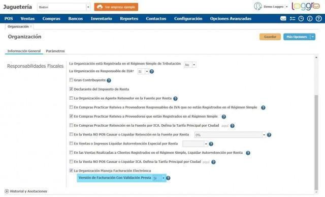 La versión de facturacion electronica con validación previa